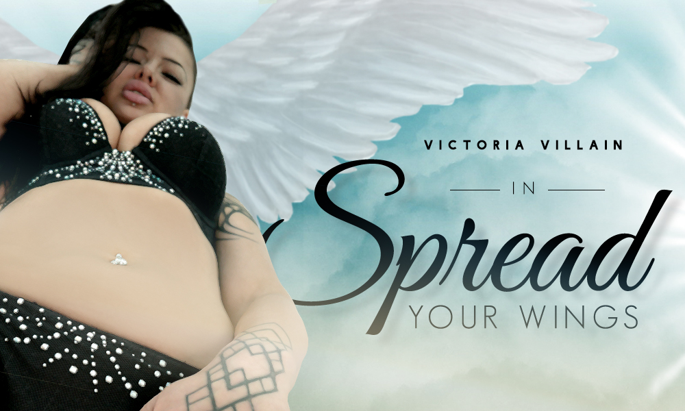 Spread Your Wings - Victoria Villain's 1st Time On Camera!